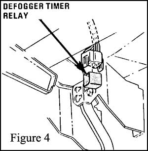 the fiero store Paragon 8045 00 Wiring- Diagram defrost timer relay4 located under the driver s side dash and mounted to the upper portion of the brake pedal bracket figure 4